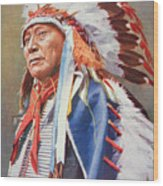 Chief Hollow Horn Bear Wood Print by American School
