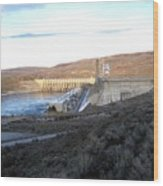 Chief Joseph Dam Wood Print