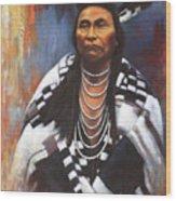 Chief Joseph Wood Print by Harvie Brown