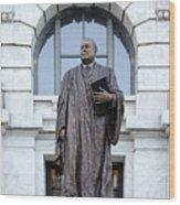 Chief Justice Edward Douglas White Statue- Nola Wood Print