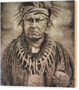 Chief Keokuk  Wood Print