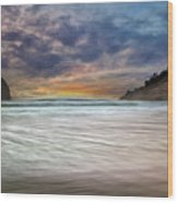 Chief Kiawanda Rock At Cape Kiwanda In Oregon Coast Wood Print