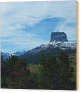 Chief Mountain, Emerging Wood Print