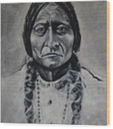 Chief Sitting Bull Wood Print