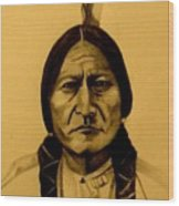 Chief Sitting Bull  Tatanka Iyotake Wood Print