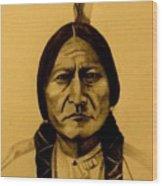 Chief Sitting Bull  Tatanka Iyotake Wood Print