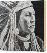 Chief Yellow Wolf Wood Print