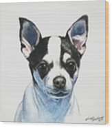 Chihuahua Black Spots With White Wood Print