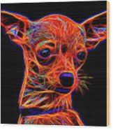 Chihuahua Dog Wood Print