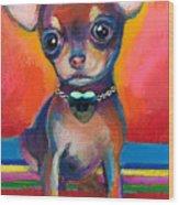 Chihuahua Dog Portrait Wood Print