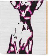 Chihuahua In Pink Wood Print