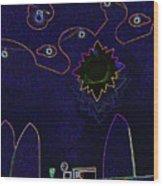 Child Art 3 Wood Print