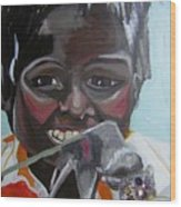Child Eating A Rat 2007 For The Love Of Money Wood Print