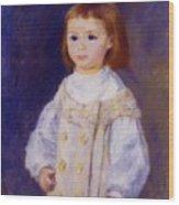Child In A White Dress Lucie Berard 1883 Wood Print