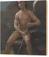 Child In The Desert Wood Print