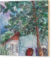 Child Of Paros Wood Print
