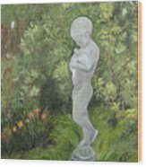 Child Of Peace As In Brookgreen Gardens Wood Print by Shirley Lawing
