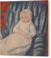 Child On A Sofa Wood Print
