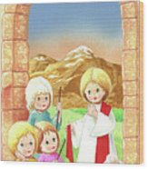 Child Shepherds Wood Print