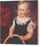 Child With A Hoop Wood Print