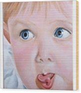 Childhood Reflections I Wood Print