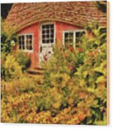 Children - The Children's Cottage Wood Print
