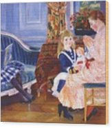 Children Afternoon At Wargemont Marguerite 1884 Wood Print