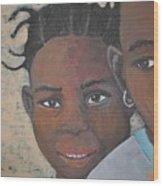 Children Burkina Faso Series Wood Print