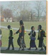 Children Crossing Wood Print