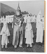 Children In Ku Klux Klan Costumes Pose Wood Print