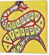 Children Of Eden's Snake Of Temptation Wood Print