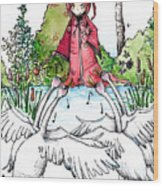 Children Of Lir Wood Print