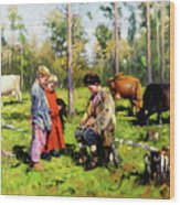 Children Of The Forest Wood Print