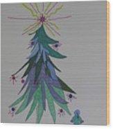 Child's Blue Spruce Wood Print