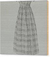 Child's Dress Wood Print
