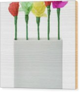 Child's Paper Flower Wood Print