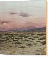 Chile Desert Wood Print