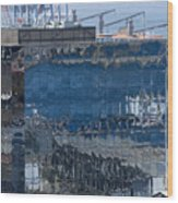 Chile Harbor Reflections Wood Print