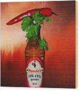 Chili Pepper, Coriander And Peri-peri By Kaye Menner Wood Print