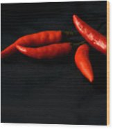 Chili Peppers Wood Print