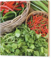 Chillies 07 Wood Print