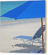 Chilling On The Beach Anguilla Caribbean Wood Print