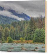 Chillkoot River Hdr Paint Wood Print