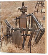 Chimayo Cemetery Wood Print