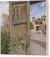 Chimayo Gate Wood Print