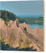 Chimney Bluffs 1750 Wood Print