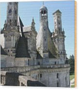 Chimney From Chambord - Loire Wood Print