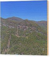 Chimney Mountain Wood Print