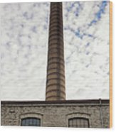 Chimney Of An Old Factory Wood Print