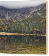 Chimney Pond During Fall - Baxter State Park Maine Wood Print